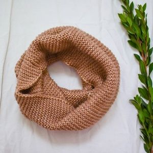H&M Accessories - H&M Brown Metallic Knit Infinity Scarf